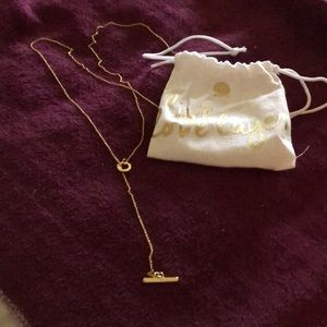 NIB gold tone lariat necklace by Gorjana